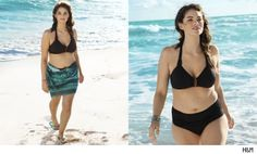 H & M new swimsuit model Jennie Runk who is not marketed as their plus size model, just the new face of their ENTIRE swimsuit campaign.  Nice job, H & M!