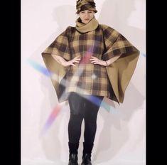 Wool Poncho, Plaid Scarf, Kimono Top, Woman, Tops, Fashion, Moda, Fashion Styles, Women