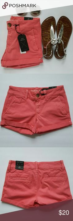 AEO Twill X Midi Short AEO Twill X Midi Short. NWT and never worn. 56% Cotton, 31% Modal, 10% Polyester, 3% Elastane. Lycra super stretch shape. American Eagle Outfitters Shorts