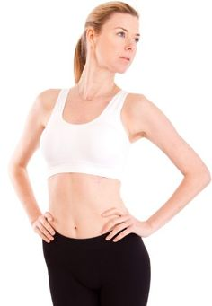White Ladies Thick Strap Ribbed Padded Sports Bra *** Click image to review more details.Note:It is affiliate link to Amazon.