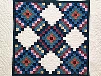 Blue Cream and Multi Philadelphia Pavement Wall Hanging; Amish Country Quilts
