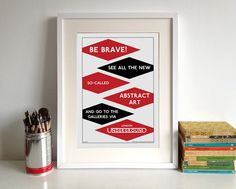 London Underground Poster Print: Abstract Art by StandardDesigns Ribba Frame, London Underground, Paper Ship, Abstract Art, Poster Prints, Graphic Design, Handmade Gifts, Public Transport, Retro Style