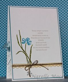 By Narelle Macey -Love & Sympathy inside card