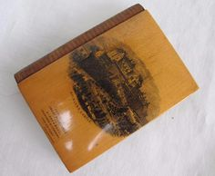 Antique Mauchline Ware Treen Note Book Aide Memoire & Pencil - Stirling Castle