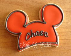Mickey Mouse Cookies.  Use a Mickey cookie cutter, but cut off the bottom