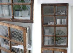 old windows into cabinet doors