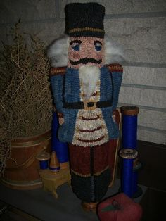 Primitive Rug Hooking Folk Art Pattern - Nutcracker Make Do