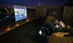 Create your own outdoor cinema  http://www.theguardian.com/lifeandstyle/2015/jun/13/create-your-own-outdoor-cinema