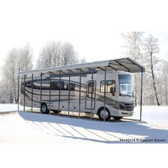 Rv Carports, Steel Carports, 5th Wheel Trailers, 5th Wheel Camper, Outdoor Storage Sheds, Shed Storage, Self Taping Screws, Roof Shapes, Shade Structure