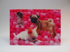 Cute Dogs Lenticular Postcard