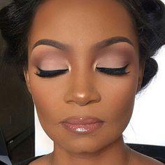 "16.6k Likes, 117 Comments - Makeup For Black Women (@makeupforblackwomen) on Instagram: ""Beauty feature : @theresafrancine #makeupforblackwomen"" #weddingmakeup"