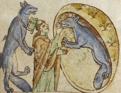 Dog-headed men from Livre des merveilles du monde, a 13th-century travelogue with stories told by Marco Polo....The Greatest Werewolf Art Of The Middle Ages And Renaissance