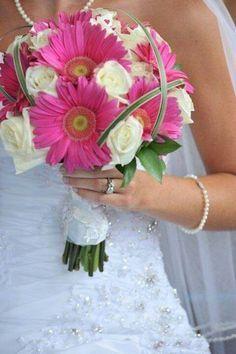 bruidsboeket roze gerbera's - Google Search