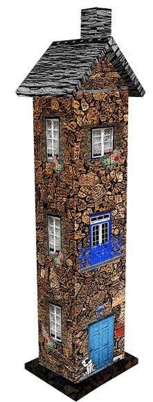 Casinha em MDF decorado e envernizado duplo para queimar incenso. Consultar Catálogo Loja para mais modelos disponíveis. Réplica Casa Granito do Piódão (Portugal)