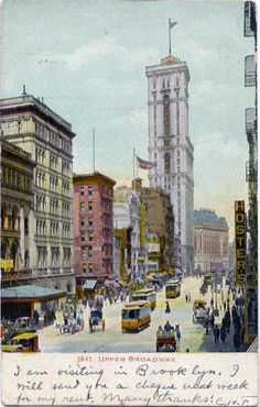 Upper Broadway, pre-1907. With thanks to http://pinterest.com/mezaial/for-charles/