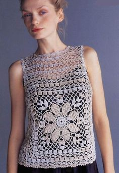 Crochet Top Chart, crochet shirt or tunic T-shirt Au Crochet, Beau Crochet, Pull Crochet, Mode Crochet, Crochet Tunic, Crochet Diagram, Crochet Woman, Crochet Clothes, Crochet Stitches