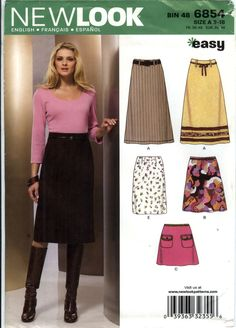 New Look 6854 Misses' Skirt Six Sizes in One
