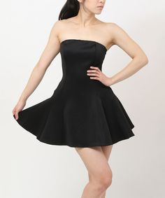 Take a look at this Black Strapless Dress on zulily today!