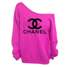 Chanel sweatshirt  Slouchy CC womens PINK sweatshirt by GetCustom, $24.97