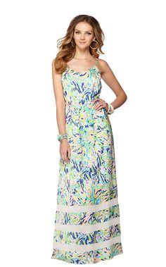@Casey O'Bryan Deanna Spaghetti Strap Maxi Dress - Perfect for weddings and South of France