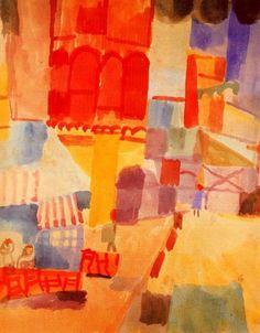 Paul Klee - El Halfaouine Square in Tunis