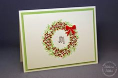 Mel's Card Corner | Joy Wreath