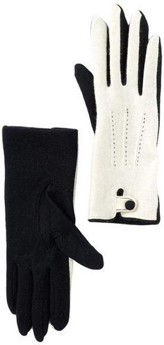 Vincent Pradier Stitched Button Gloves