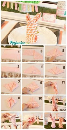 Napkin Folding: How to Fold Napkins as a Bunny