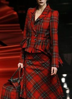 ♔ Tartan dress. (I had a red plaid dress similar to this, way back when. Wish I still had it!)