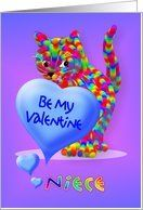 Valentine Kitten Greeting for Niece Card by Greeting Card Universe. $3.00. 5 x 7 inch premium quality folded paper greeting card. Valentine's Day cards for the whole family are available at Greeting Card Universe. Whether for one person or the whole family, a paper card will make your Valentine's Day memorable this year. Let Greeting Card Universe help you find the best Valentine's Day card this year. This paper card includes the following themes: valentines, niece, and be my...