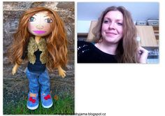 doll by photos Carnival, Dolls, Face, Photos, Handmade, Baby Dolls, Hand Made, Doll, The Face