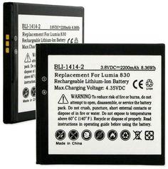 Empire Scientific BLI-1414-2 Nokia Bv-L4A 3.8V 2200Mah Li-Ion Battery