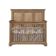 Chelsea Square Built To Grow Crib Khaki Cribs ($699) ❤ liked on Polyvore featuring home, children's room, children's furniture, nursery furniture and khaki