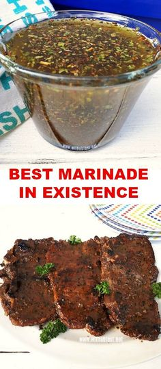 have to try this Marinade ! It really is the Best Marinade in Existence !You have to try this Marinade ! It really is the Best Marinade in Existence ! Steak Marinade Recipes, Marinade Sauce, Grilled Steak Recipes, Grilling Recipes, Meat Recipes, Dinner Recipes, Healthy Recipes, Grilled Shrimp, Salmon Recipes