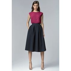 Looking for Midi Skirts? Call off the search with our Navy Midi Skirt With Pockets. Shop unique fashion at SilkFred Midi Skirt With Pockets, Full Midi Skirt, Midi Skirts, Pleated Skirt, Grey Fashion, Retro Fashion, Unique Fashion, Skirt Outfits, Dress Skirt