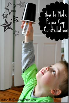 How to Make Paper Cup Constellations: a fun, indoor activity for kids!  www.TheSeasonedMom.com
