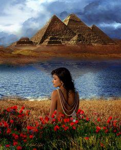 Egyptian Goddess, Isis, Bast, Bastet, Hathor, Nut