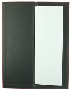 Carbon Rod | Cocktail Size - Terracotta Buckram - Black Buckram