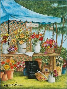 jardinage on jardine Cross Stitch Books, Cross Stitch Art, Garden Painting, House Painting, Garden Art, Illustrations, Illustration Art, Comics Anime, Photo Vintage