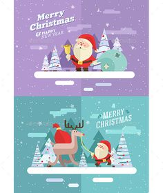 Merry christmas. Vector winter illustration. - Christmas Seasons/Holidays