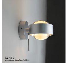 Top Light Puk Wall Plus, Linse/Linse - Leuchte drehbar