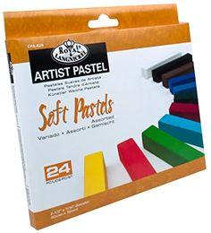 Royal Brush Soft Pastels, 24-Pack, Multicolor