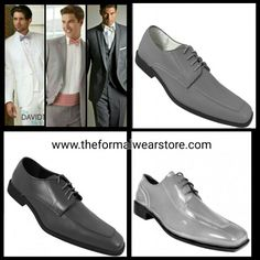 White or grey, you decide Grey Tux, Prom 2016, Shades Of Grey, Formal Wear, Color Splash, Oxford Shoes, Dress Shoes, Lace Up, Tuxedos