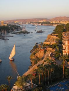 View of the Nile and city of Aswan from the New Cataract Hotel/Elizabeth Vercoe