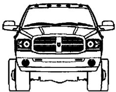 dodge mini truck coloring page
