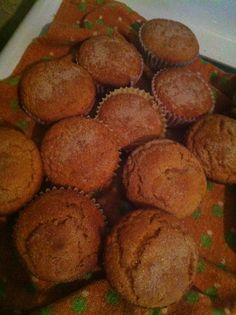 """Pumpkin """"dump"""" Cake 1 box angle food cake mix 2 cups canned pumpkin 3 tbls sugar Pumpkin pie spice, to liking 1/4 C milk Tsp vanilla Cinnamon  sugar for the top  Mix all ingridients, pour into muffin papers or a bundt pan, top with cinnamon and sugar  bake @ 300 until toothpick test comes out clean."""