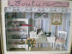 vitrine miniature : l'atelier de couture