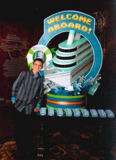 cruise ship themed centerpieces   bar mitzvah theme   bat mitzvah theme   bar mitzvah celebration ...