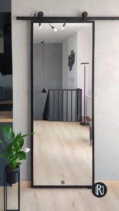 Room Door Design, Door Design Interior, Home Room Design, Room Doors, House Rooms, Bedroom Decor, Mirror In Bedroom, Decor Room, White Bedroom