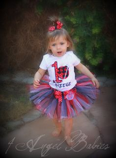 Personalized Valentine's Day Heart 3 Piece Black, Red & White Dot Lady Bug Birthday Glitter Outfit personalized with name, number and size. Includes hair piece, tutu, and top, shirt or onesie